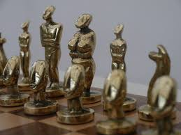 chessbaron the aegean chess set in heavy brass