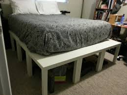 ikea end tables bedroom queen bed platform made from ikea lack end tables total cost under
