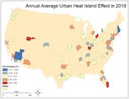 52 States Map by Uga Study Ranks U S Cities Based On The Urban Heat Island Effect