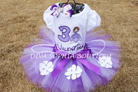 personalized princess sofia tutu bow diva