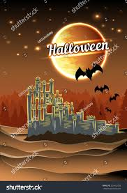 halloween castle background halloween castle stock vector 223423558 shutterstock