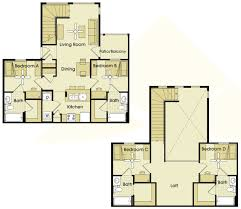 4 bed floor plans student apartments in greensboro nc spring place