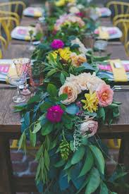 wedding reception table runners fresh floral table runners make the perfect wedding centerpieces