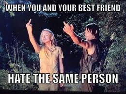 Best Friends Meme - hate the same person best friend meme