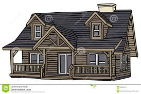 wooden house stock vector image 43335174