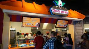 krusty burger quick service at universal studios florida