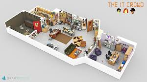 Tv Floor Plans Tv Show 3d Floor Plans The Awesomer