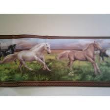 papier peint chevaux pour chambre frise ado chevaux 5 mètres mondecor