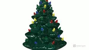 Vintage Atlantic Mold Ceramic Christmas Tree by Ceramic Christmas Trees Vintage White U0026 Green For 2017 Youtube