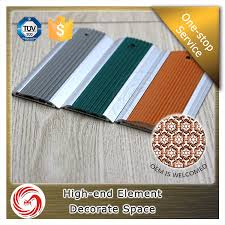 rubber strips insert aluminum floor transition for all floor