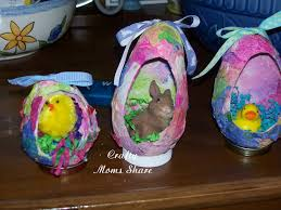easter egg paper mache crafty and easter crafts