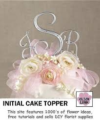 7 best monogram initial cake topper images on pinterest initial