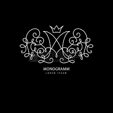 design logo elegant simple and elegant logo design template vector monogram with