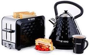 Selfridges Toaster Vivo Black Diamond Electric Kettle And 2 Slice Wide Slot Toaster