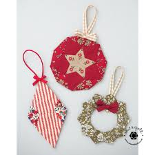 tree trinkets ornaments pattern paper pieces kit sew