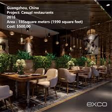 exco restaurant decoration modular ready made kitchen design ideas