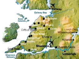map of county map of county clare places to stay
