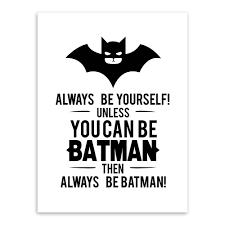 Kids Room Prints by Aliexpress Com Buy Black White Superhero Batman Typography