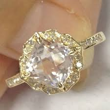art deco crystal ring holder images Shop vintage cushion cut engagement rings on wanelo jpg