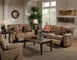 Recliner Living Room Set 2 Reclining Sofa Set In Cafe Color Fabric By Catnapper