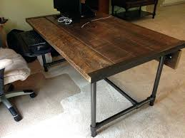 Industrial L Shaped Desk Building A Desk Industrial Pipe And Walnut L Shaped Desk With