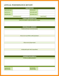 employee review template employee annual review first three
