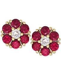 ruby stud earrings ruby earrings shop ruby earrings macy s
