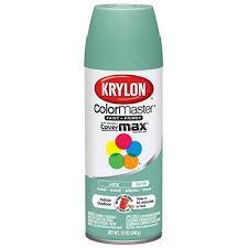 krylon colormaster spray paint indoor outdoor use satin jade 12
