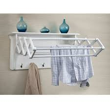 wall mounted drying rack for laundry clothes drying rack wall mount laundry wooden accordion dayna b