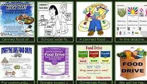 canned food drive flyer templates on thanksgiving canned food drive