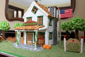 American Flag House Gingerbread Farm House