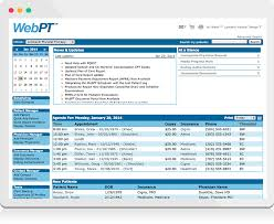 physical therapy emr features webpt