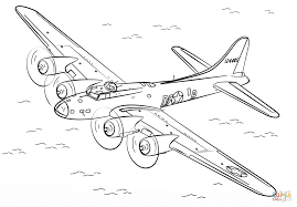b 17 flying fortress coloring page free printable coloring pages