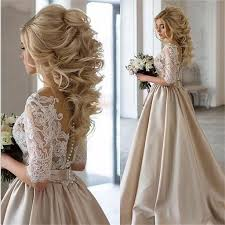 Simple But Elegant Hairstyles For Long Hair by New Arrival Half Sleeves Lace Top Soft Beautiful Simple Wedding