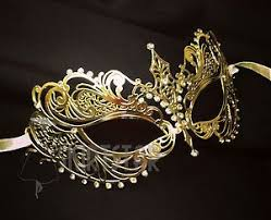 gold masquerade mask laser cut venetian mask gold masquerade costume fancy
