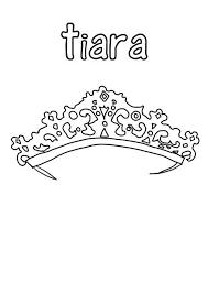 Beautiful Tiara In Princess Crown Coloring Page Netart Princess Crown Coloring Page Free Coloring Sheets