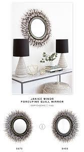 Horchow Home Decor Janice Minor Porcupine Quill Mirror Copycatchic