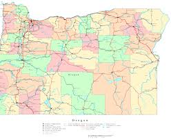 map of oregon state oregon printable map