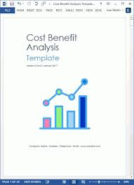 cost benefit template 40 cost benefit analysis templates examples