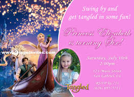 tangled birthday invitations wblqual com