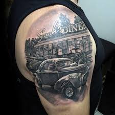 70 rod tattoo designs for men automobile aficionado ideas