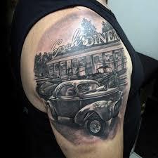 70 rod tattoo designs for men automobile aficionado ideas