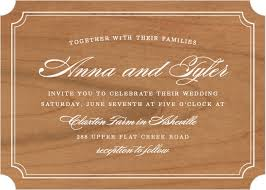 wood wedding invitations wooden wedding invitations made from real wood