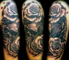 Tribal Tattoos With Roses - tribal roses sleeve tattoos ideas for for