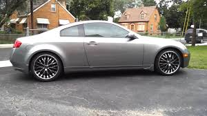 infiniti g35 coupe with 20 inch lorenzo rims youtube