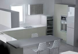 cuisine en u avec table objet deco cuisine design