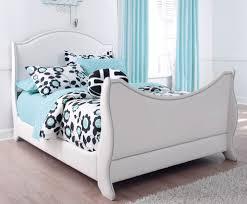 Modern White Bed Frames Modern White Vinyl Upholstered Full Size Bed Frame With Nailhead