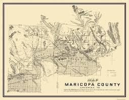 Zip Code Map Phoenix by Old County Map Maricopa Arizona 1938