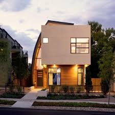 home design denver inspiring infill with sun catching curve metal shield
