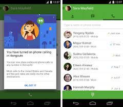 hangouts app android hangouts gets free us and canada phone calls